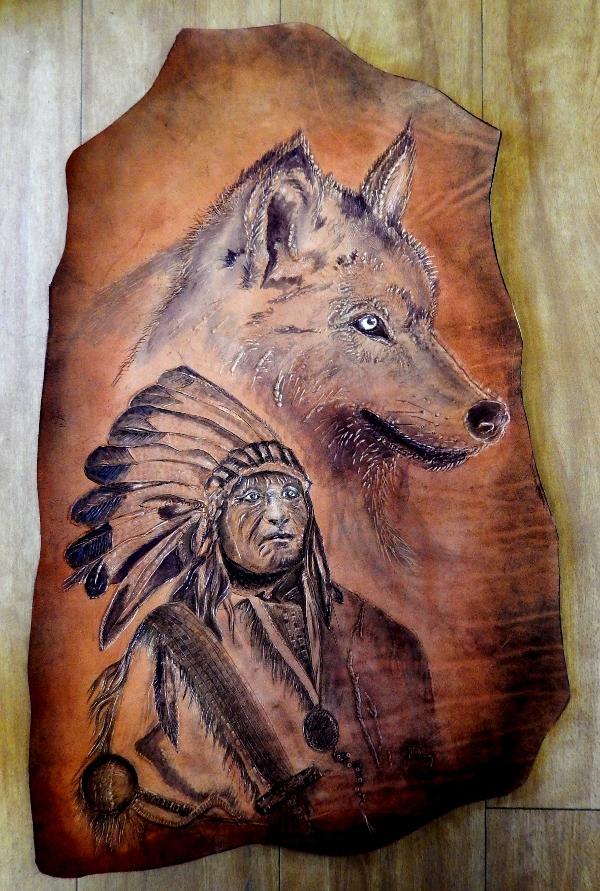 cuir indien loup